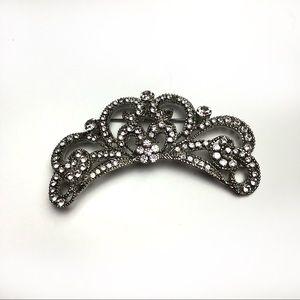 Betsey Johnson rhinestone encrusted crown brooch